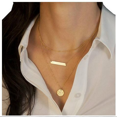 Triple Layer Gold-Tone Necklace Just $4.97 + FREE Shipping!