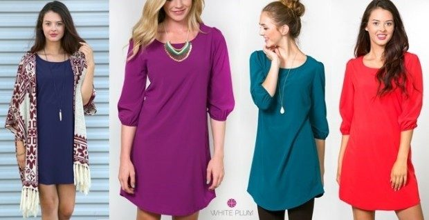 Classic Tunic Dress - 10 Colors Only $19.99!