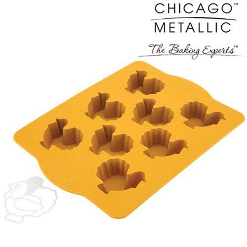 Turkey Cakelette Pan with Stencil by Chicago Metallic Only $4.99!