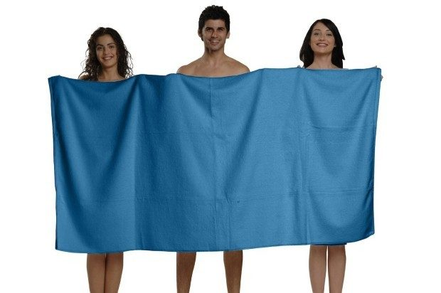 Bodrum Blue, Turkish Spa Bath Sheet Only $33 Ships FREE!