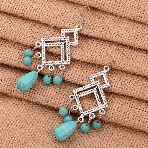 Tibetan Silver and Turquoise Earrings Just $2.69 + FREE Shipping!