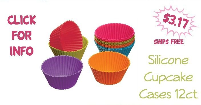 Silicone Cupcake Cases 12ct Just $3.17 + FREE Shipping!