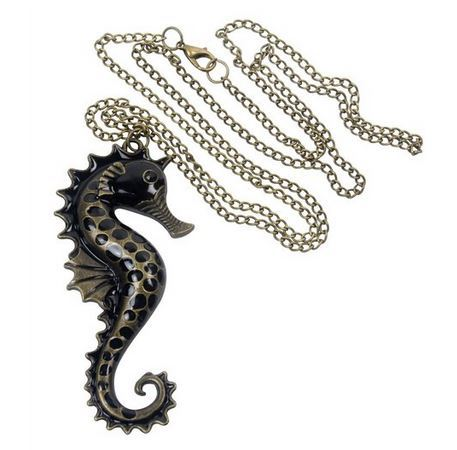 Vintage Seahorse Pendant Necklace Just $2.82 Shipped!