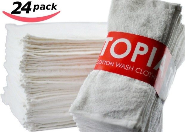 Utopia Towels Washcloths 24 Pk Only $13.99!  Down From $30!