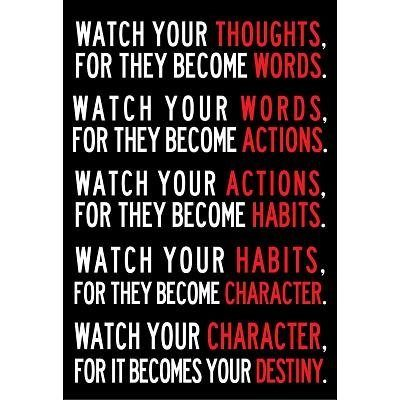 Watch Your Thoughts Motivational Poster Only $3.86 + FREE Shipping!