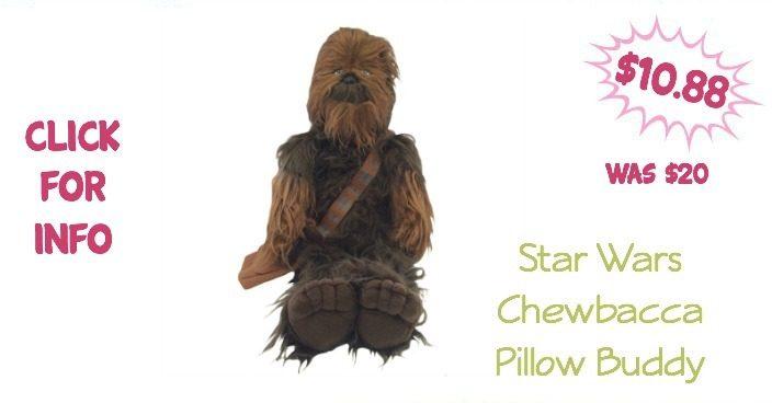 Star Wars Chewbacca Pillow Buddy Only $10.88! (Reg. $20)