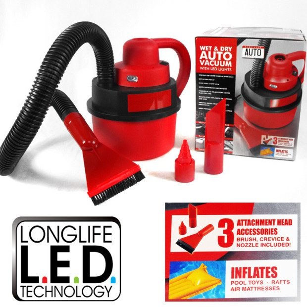 Wet/Dry Car Vac - $15/1 Or $25/2 Plus FREE Shipping!