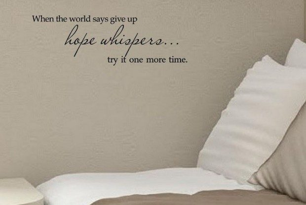 When the World Says Give Up Vinyl Wall Decal Just $3.65 + FREE Shipping!