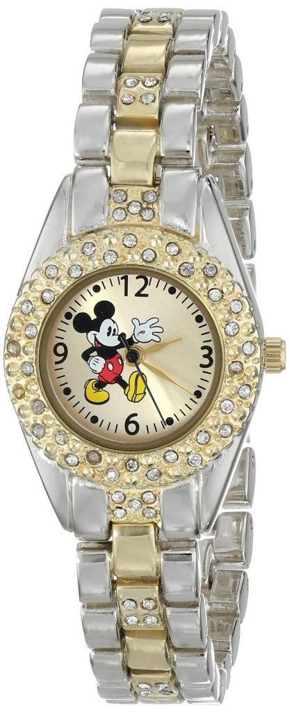 Disney Women's Mickey Mouse Gold Dial Two-Tone Bracelet Watch Only $13.59!  Down From $25!