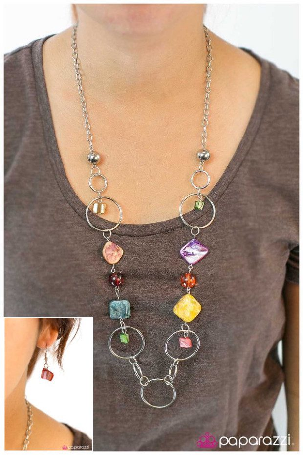 What A Wonderful World Necklace & Earrings Just $5!