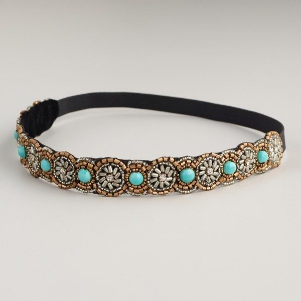 Turquoise Beaded Headband Only $5.83!