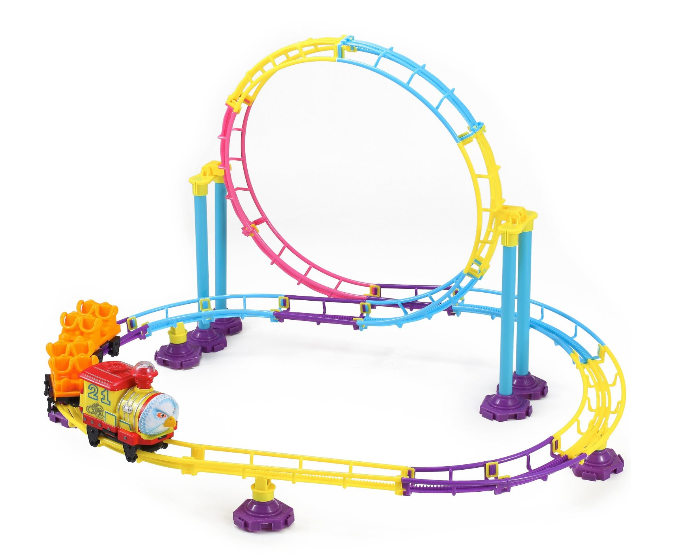 76-piece Park Roller Coaster Toy Building Set $13.95 + FREE Prime Shipping (Reg. $20)!