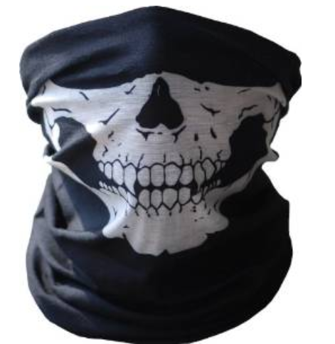 UrbanSource Black Seamless Skull Face Tube Mask Only $0.96 + FREE Shipping (Reg. $25)!