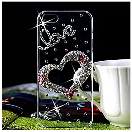 Clear + Crystal Hearts iPhone 6 Case Just $6.12 SHIPPED!