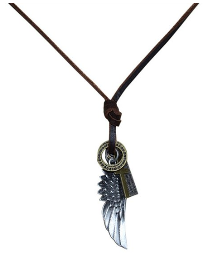 Leather Cord Feather Wings Necklace Only $6 SHIPPED (Reg. $40)!