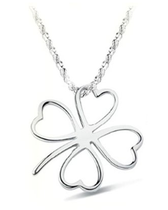 Sterling Silver Clover Necklace Only $3.07 + FREE Shipping!