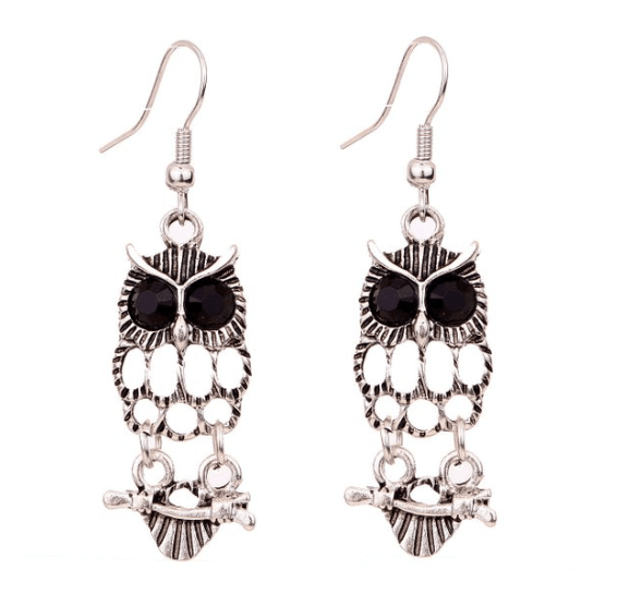 Silver Owl On A Branch Earrings ONLY $3.96 + FREE Shipping (WAS $15)!