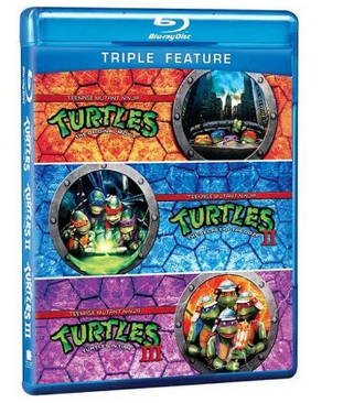 Teenage Mutant Ninja Turtles Triple Feature Blu-ray DVD $6.96 + FREE Store Pickup (Reg. $