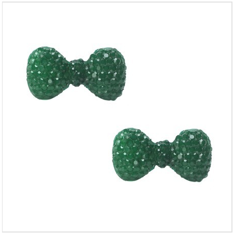 Petite Navy Green Bow Earrings As Low As $2 SHIPPED (Reg. $20)!