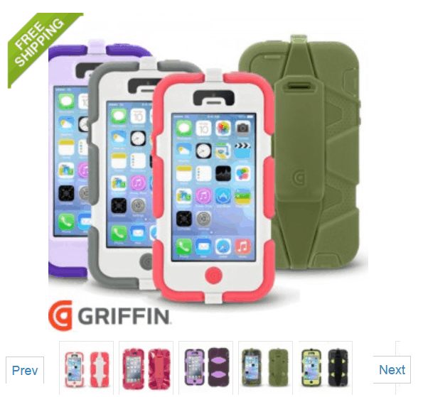 Griffin Technology Survivor Case for iPhone 5/5S ONLY $14.99 + FREE Shipping (WAS $40)!
