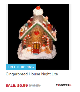 Gingerbread House Night Lite Only $6.99 + FREE Shipping (Reg. $20)!
