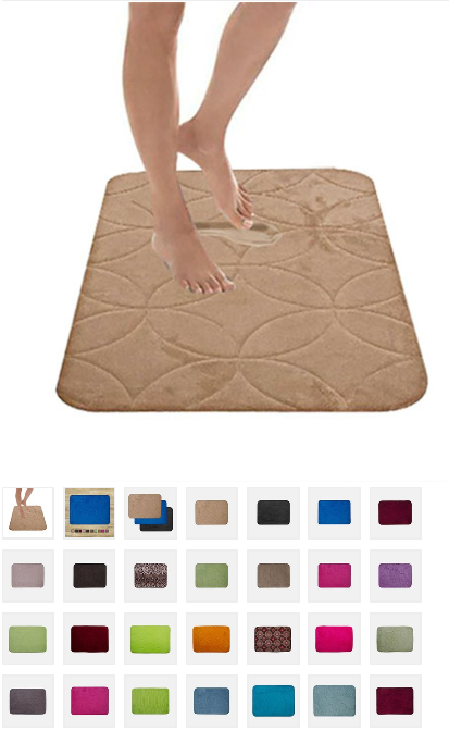 Luxury Embossed 16x24 Memory Foam Bath Mats ONLY $7.48 SHIPPED!