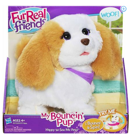 FurReal Friends Happy to See Me Pets My Bouncin' Pup Pet Only $15 + FREE Store Pickup (Reg. $24)!
