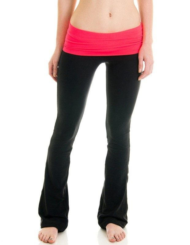 Fold Over Athletic Yoga Pants Just $9.97!  (Reg. $50!)