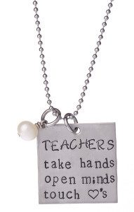 Stainless Steel 'Teachers Take Hands' Necklace Just $14.99 at Zulily!