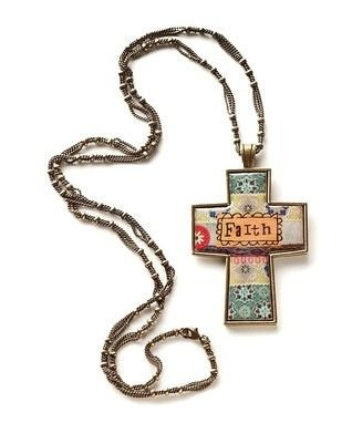 'Faith' Large Cross Pendant Necklace Only $9.99!