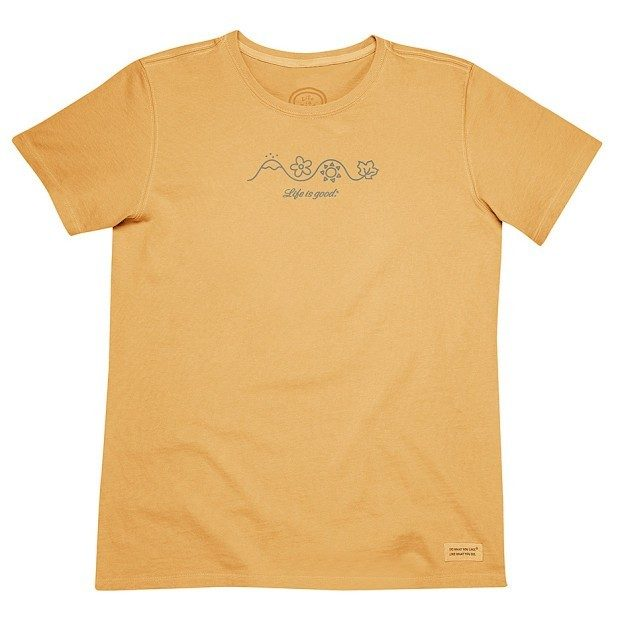 Life is Good Honey Gold Four Seasons Crusher Tee Only $13.99!