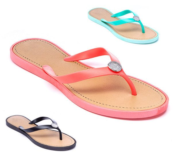 Coral Jewel Disc Flip-Flop Only $9.99!