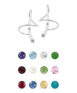 Birthstone Swarovski Crystal Earspirals Only $29.99!