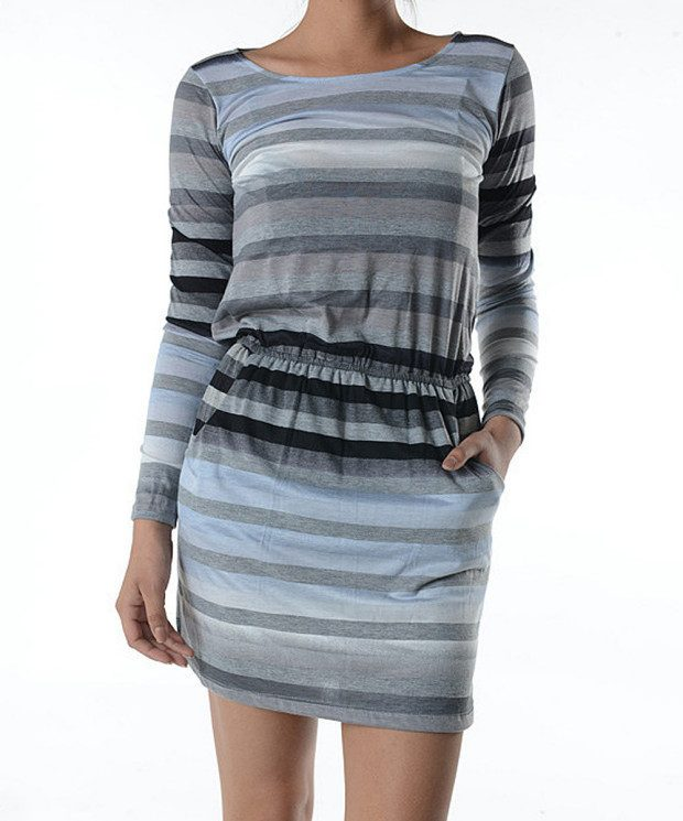Mulberry Stripe Blouson Long-Sleeve Dress Only $12.99!