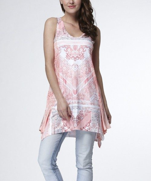 Scarf Print Handkerchief Tunic Just $22.99 At Zulily!