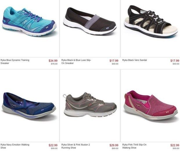 Ryka Footwear Up TO 70% Off, As Low As $14.99 At Zulily!